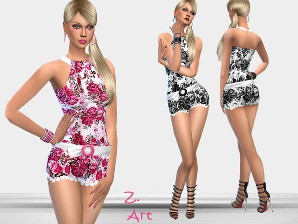 Contrast jumpsuit by Zuckerschnute20 at TSR image 1250 Sims 4 Updates