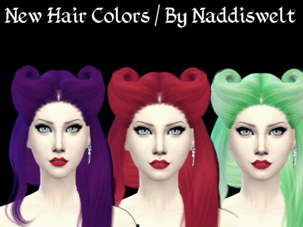Retexture Hair V17 by Naddiswelt at TSR image 1265 Sims 4 Updates