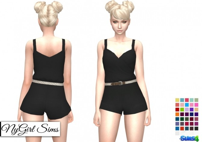 Braided Belt Romper at NyGirl Sims image 1269 670x473 Sims 4 Updates