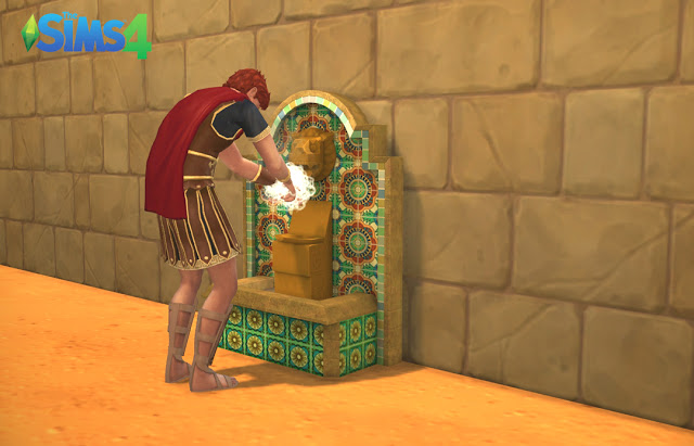 Aztek Fountain As A Sink At Historical Sims Life 187 Sims 4