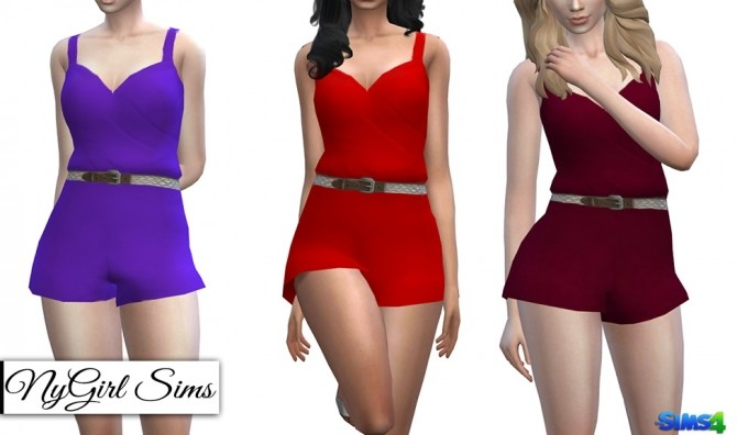Braided Belt Romper at NyGirl Sims image 1279 670x396 Sims 4 Updates