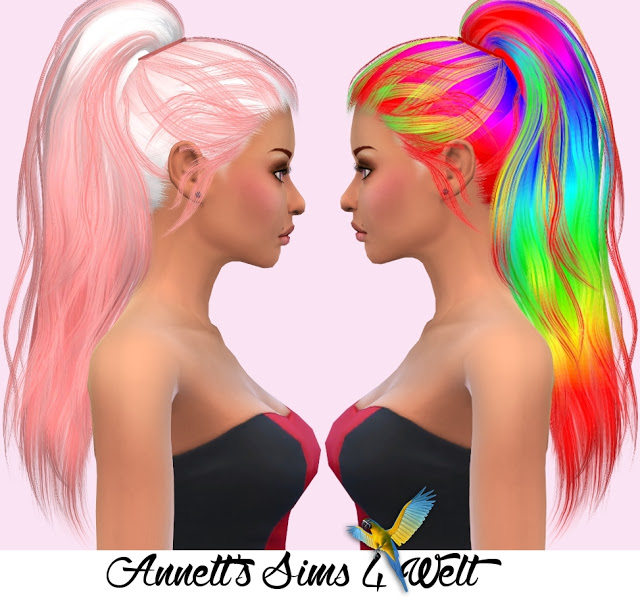 Sims 4 Stealthic Hair Paradox Recolors at Annett's Sims 4 Welt