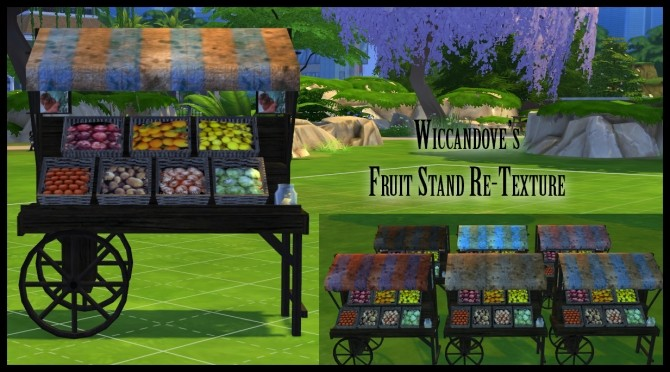 Fruit Stand Retexture By Wiccandove At Simsworkshop 187 Sims