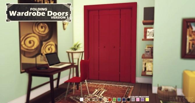 Folding Wardrobe Doors At Onyx Sims 187 Sims 4 Updates