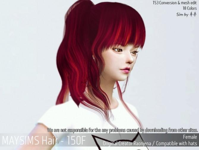 Sims 4 Hair 150F (Raonjena) at May Sims