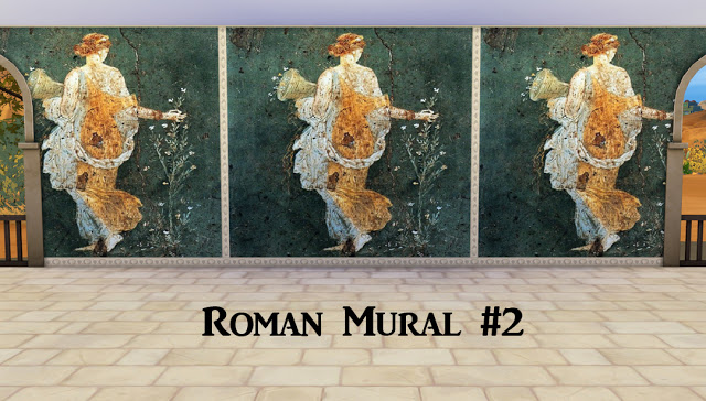 Ancient rome murals at historical sims life sims 4 updates for Ancient roman mural