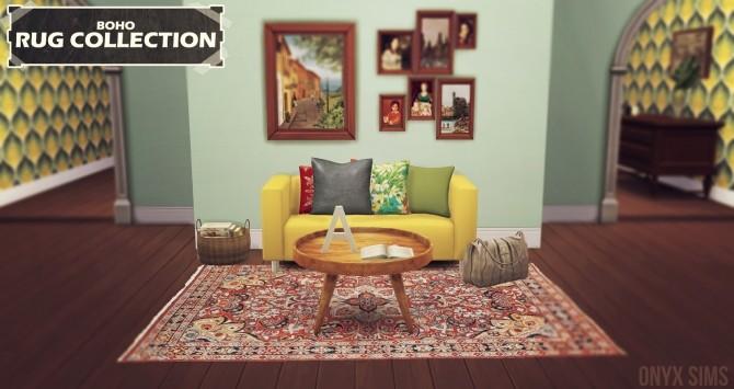 Sims 4 Boho Rug Collection at Onyx Sims