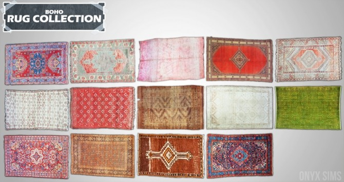 Boho Rug Collection at Onyx Sims image 13217 670x355 Sims 4 Updates
