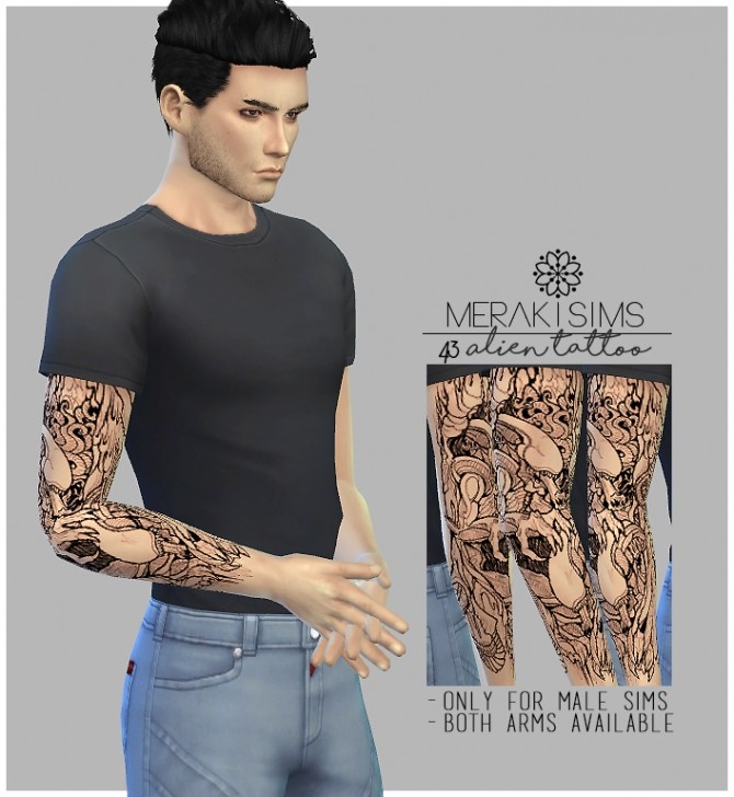 Sims 4 Alien tattoo at Merakisims
