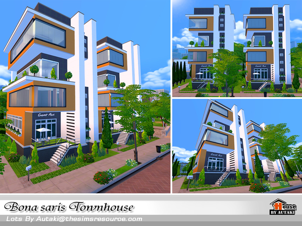 Bona saris luxury modern townhouse by Autaki at TSR image 1330 Sims 4 Updates
