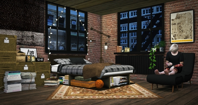 Industrial Rustic Bedroom Update At Mxims 187 Sims 4 Updates