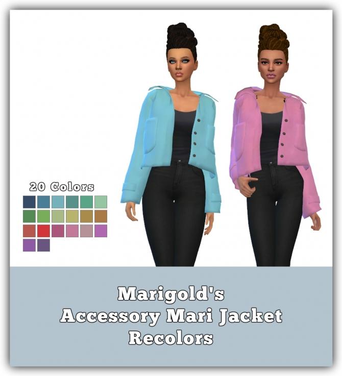 Accessory Mari Jacket Recolors At Maimouth Sims4 187 Sims 4