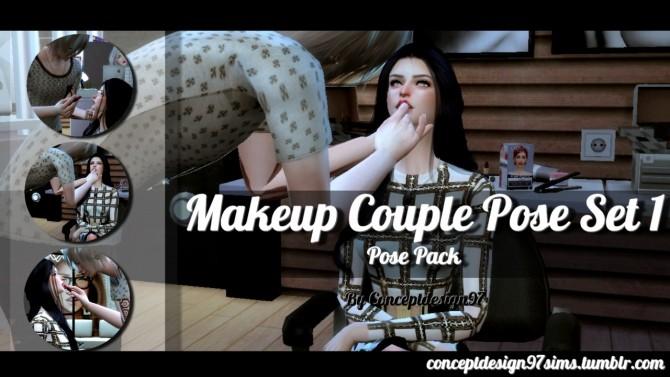 Sims 4 Makeup Couple Pose Set 1 at ConceptDesign97