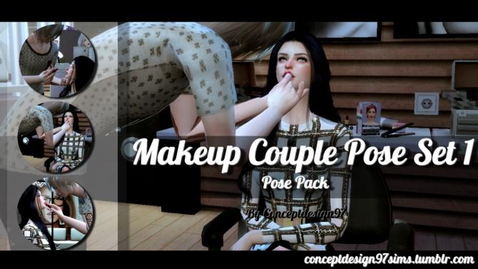 Makeup Couple Pose Set 1 At Conceptdesign97 187 Sims 4 Updates