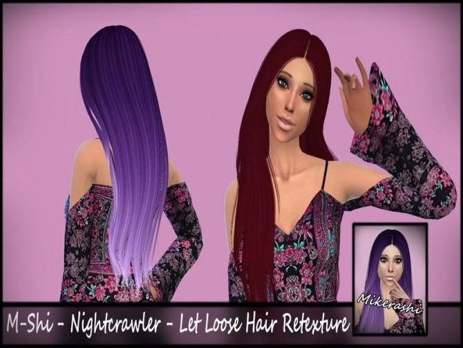 M Shi Nightcrawler LetLoose Hair Retexture by mikerashi at TSR image 14013 670x503 Sims 4 Updates