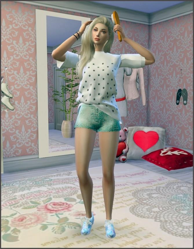 Sims 4 You can brush my hair poses at Rethdis love