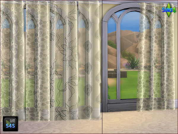 4 curtain sets in 3 different sizes by Mabra at Arte Della Vita image 1409 Sims 4 Updates