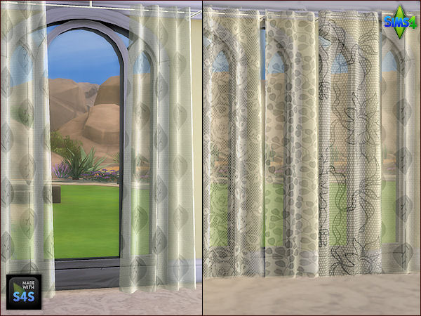 4 curtain sets in 3 different sizes by Mabra at Arte Della Vita image 14113 Sims 4 Updates