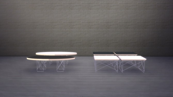Sims 4 Elliptical and Occasional Coffee Tables at Meinkatz Creations