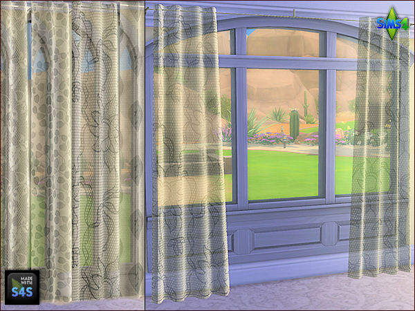 4 curtain sets in 3 different sizes by Mabra at Arte Della Vita image 14210 Sims 4 Updates