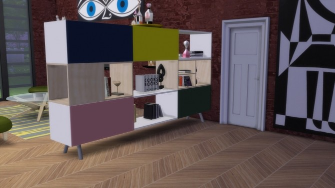 Sims 4 Kast 3 HU sideboard at Meinkatz Creations