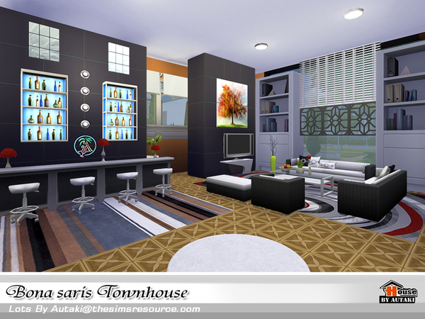 Bona saris luxury modern townhouse by Autaki at TSR image 1439 Sims 4 Updates