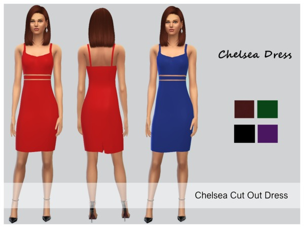 Sims 4 Chelsea Dress by Mysterious Sim at TSR