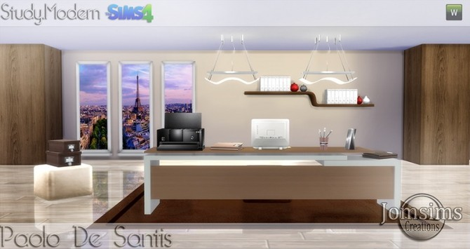 Sims 4 Paolo De Santis office at Jomsims Creations