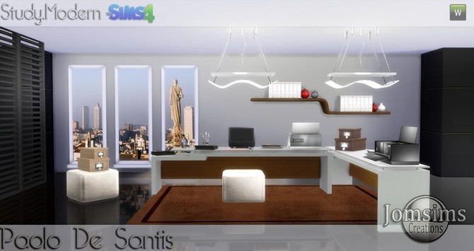 Paolo De Santis office at Jomsims Creations image 1454 670x355 Sims 4 Updates