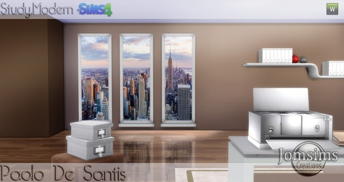 Paolo De Santis office at Jomsims Creations image 1474 670x355 Sims 4 Updates