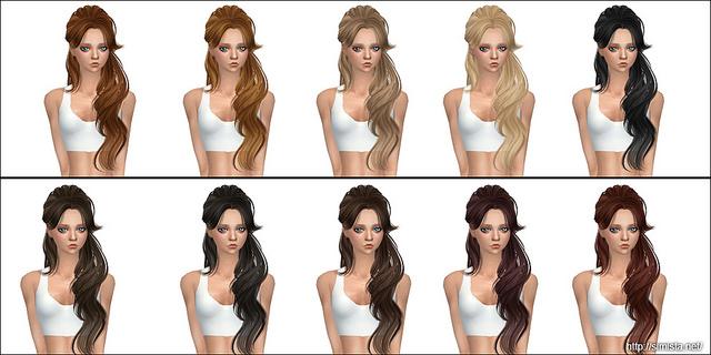 Sims 4 SkySims Hair 068 Retexture at Simista