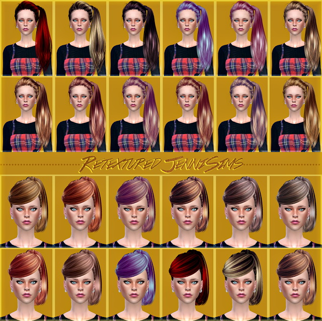 Sims 4 Butterflysims 164, 130 Hairs retextures at Jenni Sims