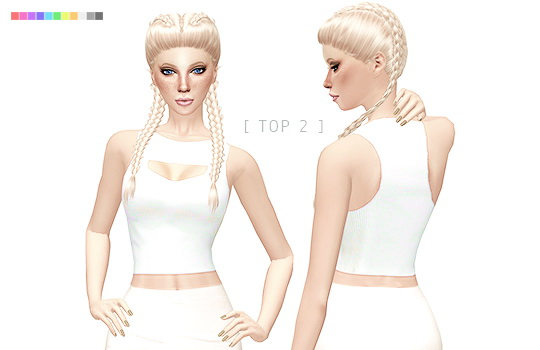 Sims 4 CUT OUT TOP VARIATIONS at Leeloo