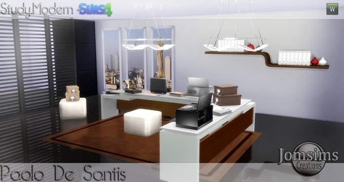 Paolo De Santis office at Jomsims Creations image 1483 670x355 Sims 4 Updates