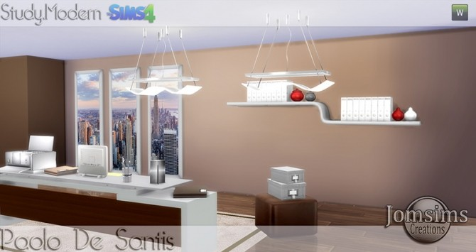 Paolo De Santis office at Jomsims Creations image 1492 670x355 Sims 4 Updates