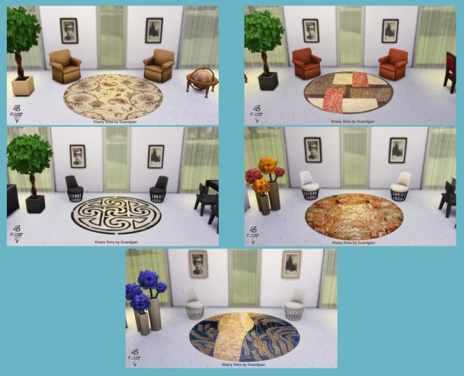 CASSIOPEE collection round rugs by Guardgian at Khany Sims image 1495 670x543 Sims 4 Updates