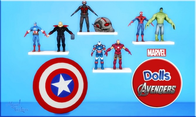 Sims 4 Dolls Avengers at Victor Miguel
