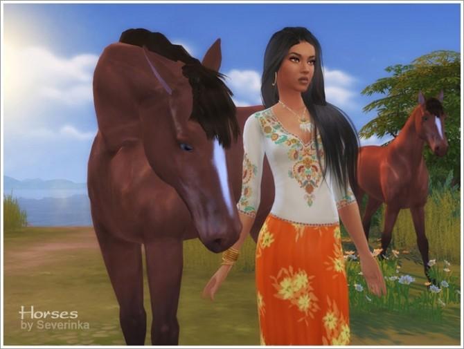 Sims 4 Horses (deco) at Sims by Severinka