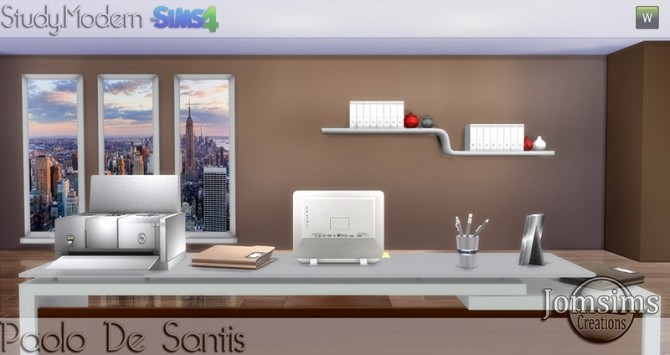Paolo De Santis office at Jomsims Creations image 1503 670x355 Sims 4 Updates