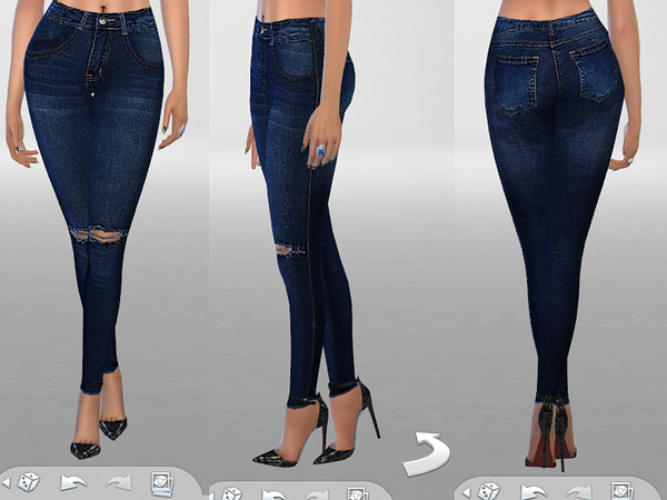Indigo Skinny Jeans No.02 by Pinkzombiecupcakes at TSR image 1513 Sims 4 Updates