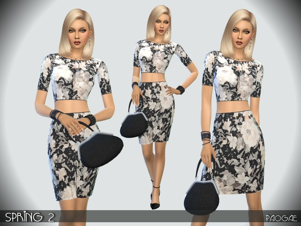 Sims 4 Spring 2 dress by Paogae at TSR