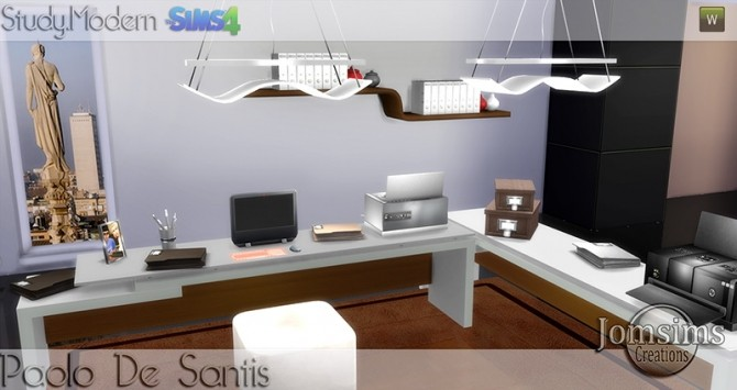 Paolo De Santis office at Jomsims Creations image 1515 670x355 Sims 4 Updates