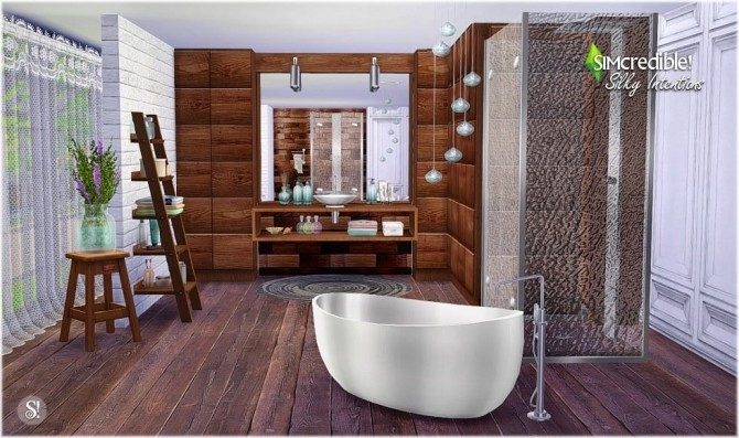 Silky intentions bathroom at simcredible designs 4 sims for Bathroom ideas sims 4
