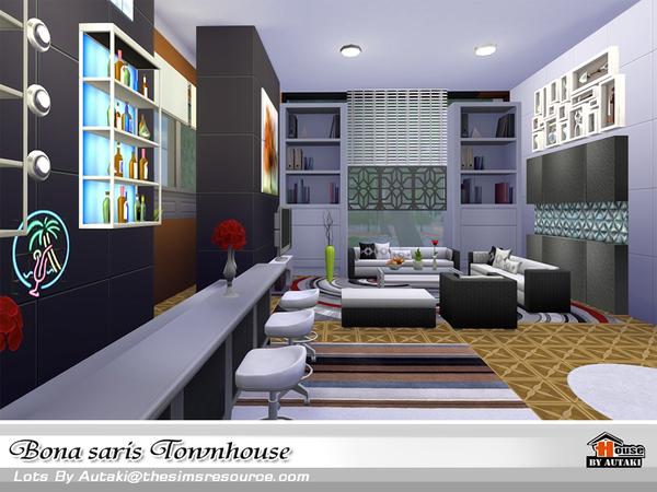 Sims 4 Bona saris luxury modern townhouse by Autaki at TSR