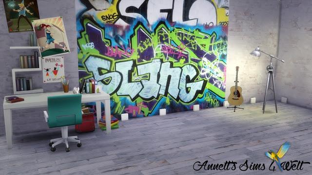 Graffiti Walls At Annett S Sims 4 Welt 187 Sims 4 Updates