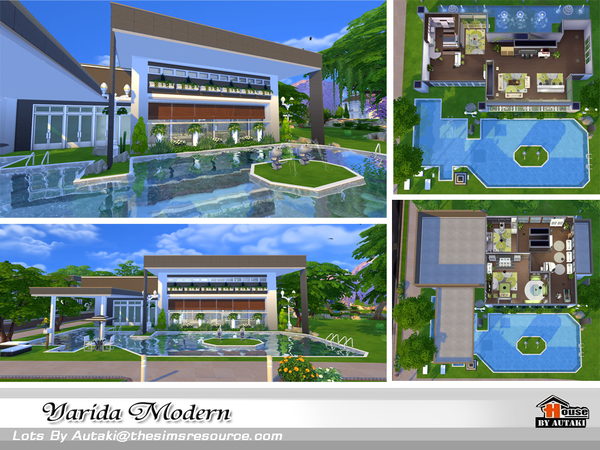 Yarida Modern house by autaki at TSR image 1540 Sims 4 Updates
