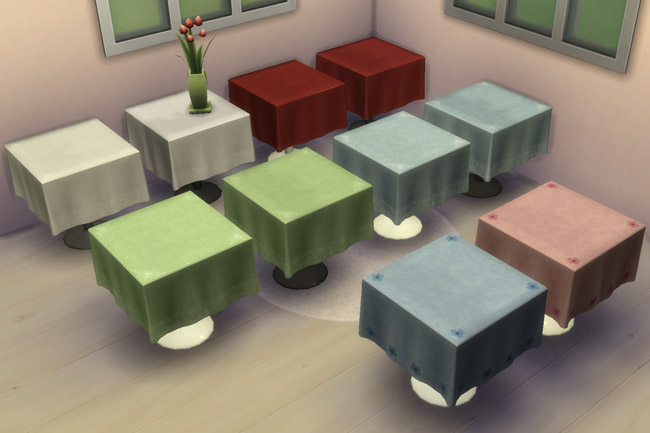 Small holiday table by mammut at Blacky's Sims Zoo image 1553 Sims 4 Updates