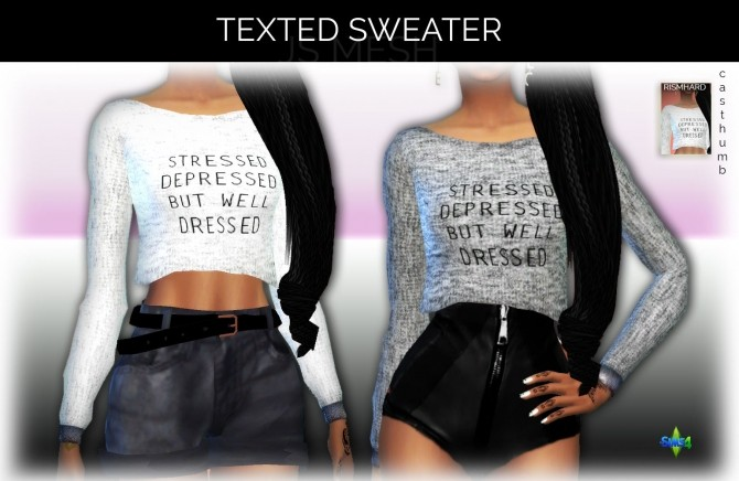 Texted Sweater at Rimshard Shop image 1569 670x436 Sims 4 Updates