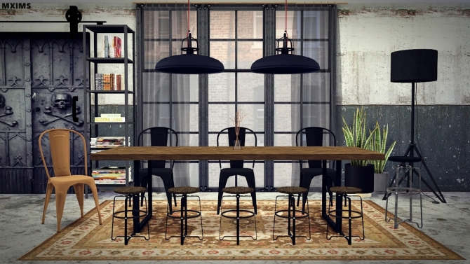 Industrial Dining Room At Mxims 187 Sims 4 Updates
