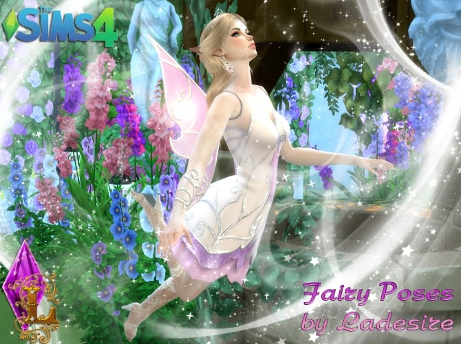 Fairy Poses At Ladesire 187 Sims 4 Updates